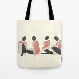 Woman Forms Tote Bag