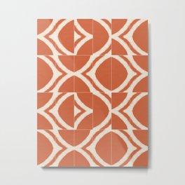Rustic Uluru Messy Tiles Metal Print