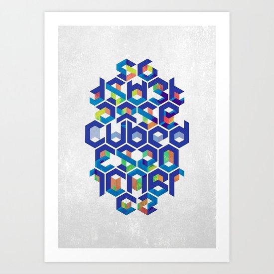 Cubed Balance Art Print