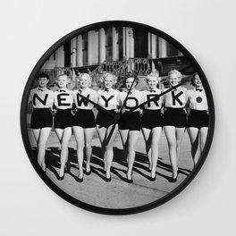 NEW YORK Vintage Girls Wall Clock