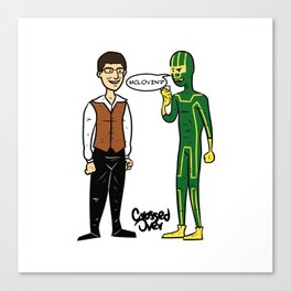 Superbad vs Superhero Canvas Print