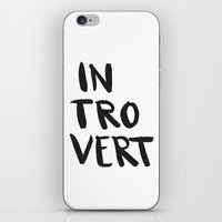 introvert iPhone & iPod Skins featuring Introvert by Dead Language