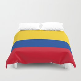 Flag of Colombia-Colombian,Bogota,Medellin,Marquez,america,south america,tropical,latine america Duvet Cover