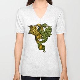 dragon and phoenix Unisex V-Neck