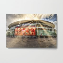 Arsenal Football Club Emirates Stadium London Sun Rays Metal Print