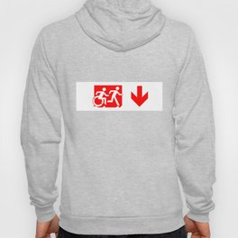 Wheelchair Disabled Exit Sign, with Accessible Means of Egress Icon Hoody