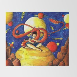 Dragon friend Throw Blanket