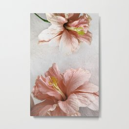 Blossom, Pink Flowers Metal Print