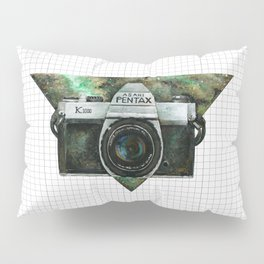 Pentax K1000 (Green Nebula) Pillow Sham