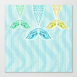 Mermaids and Stripes Canvas Print
