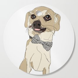 Chihuahua with Bow Tie Cutting Board