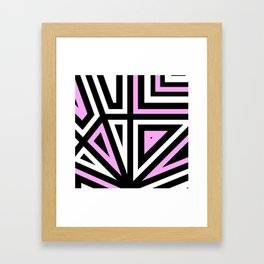 Around Every Corner Pink Framed Art Print
