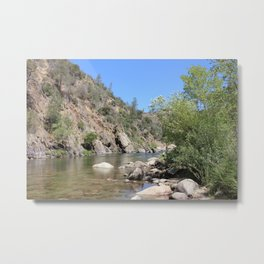 Section of the Kern river Metal Print