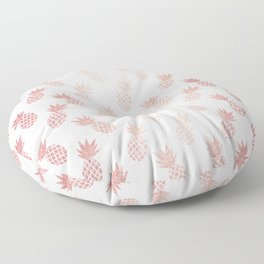 Rose Gold Pineapple Pattern Floor Pillow