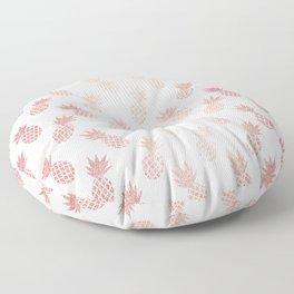 Rose Gold Pineapple Pattern Floor Pillow