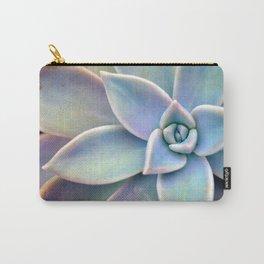 Pastel Succulent Carry-All Pouch
