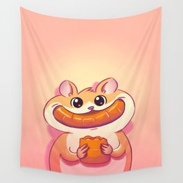 Hamster Happiness Wall Tapestry