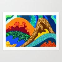 voyage Art Prints featuring Voyage by Stefferson Vector