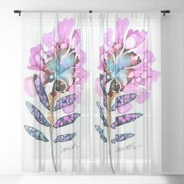 fleur du jour Sheer Curtain