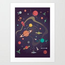 Cosmico 4 Art Print