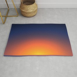 Cold Moroccan Sunset at the Beach Rug