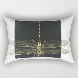 Golden Dragonfly Rectangular Pillow