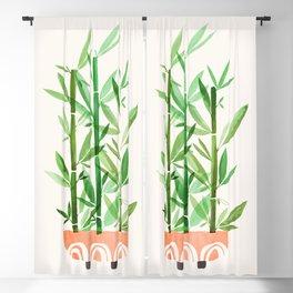 Happy Bamboo Houseplant Blackout Curtain