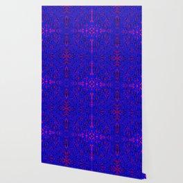 blue on red symmetry Wallpaper