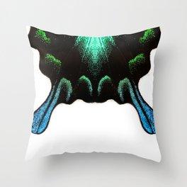 Green Swallowtail Butterfly Throw Pillow