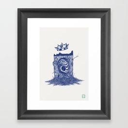 King of the Little Forrest Framed Art Print