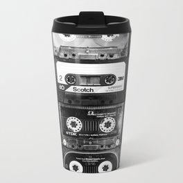 Something Nostalgic - black and white #decor #buyart #society6 Metal Travel Mug