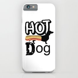 Hotdog,sausage dog ,Dachshund iPhone Case