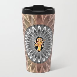 Goddess Sarasvati Metal Travel Mug