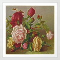 vintage flowers Art Prints featuring Vintage Flowers by Lucia
