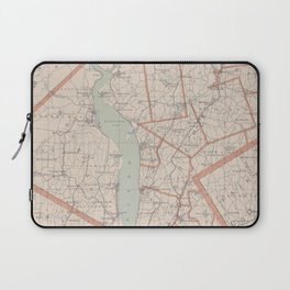Vintage Map of Westchester County NY (1893) Laptop Sleeve