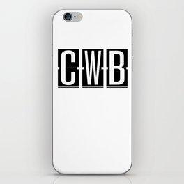 CWB - Curitiba - Brazil Airport Code Souvenir or Gift Design  iPhone Skin