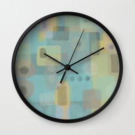 Some of this and that - Abstract Digital Art Wall Clock