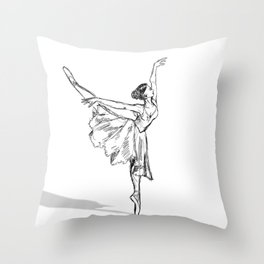 Sketch Dancer Throw Pillow