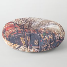 NYC Cherry Blossoms on the Lower East Side Floor Pillow
