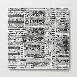My Friend, Surveillance (P/D3 Glitch Collage Studies) Metal Print