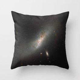 Leda NGC 4424 The Beautiful Universe Throw Pillow