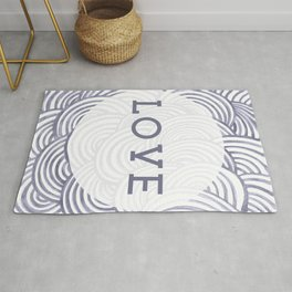 LOVE - Inspirational Minimalist Artwork - line Rug