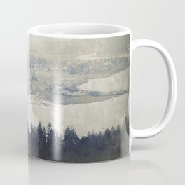 antiqued view from the Astoria Column Youngs Bay Coffee Mug