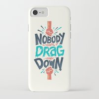 risa rodil iPhone & iPod Cases featuring Nobody can drag me down by Risa Rodil