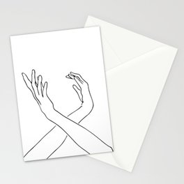 Dancing minimal line drawing Stationery Cards
