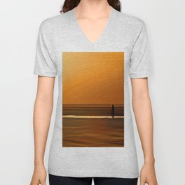 Gormley Iron Man (Digital Art) Unisex V-Neck