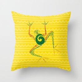 Tribal frog Throw Pillow
