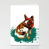 pitbull Stationery Cards featuring PITBULL by Guille Pachelo
