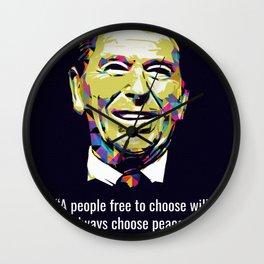 Ronald Reagan Quotes Wall Clock
