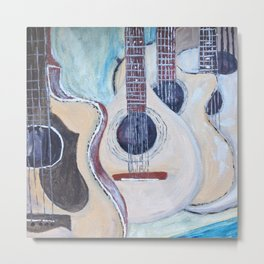 music wall Metal Print